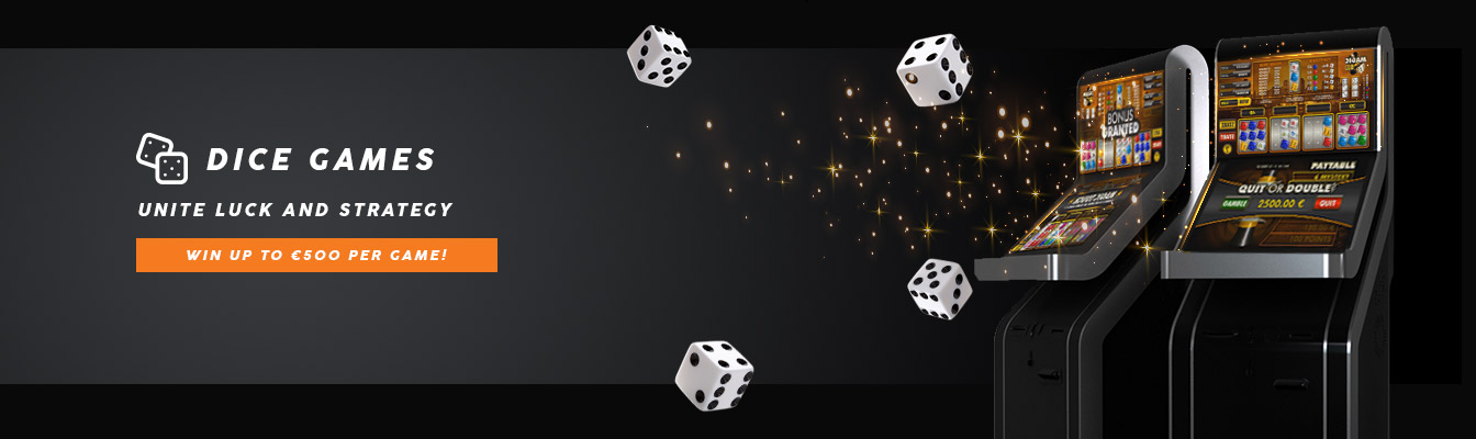 Win up to €500 per game with dice games
