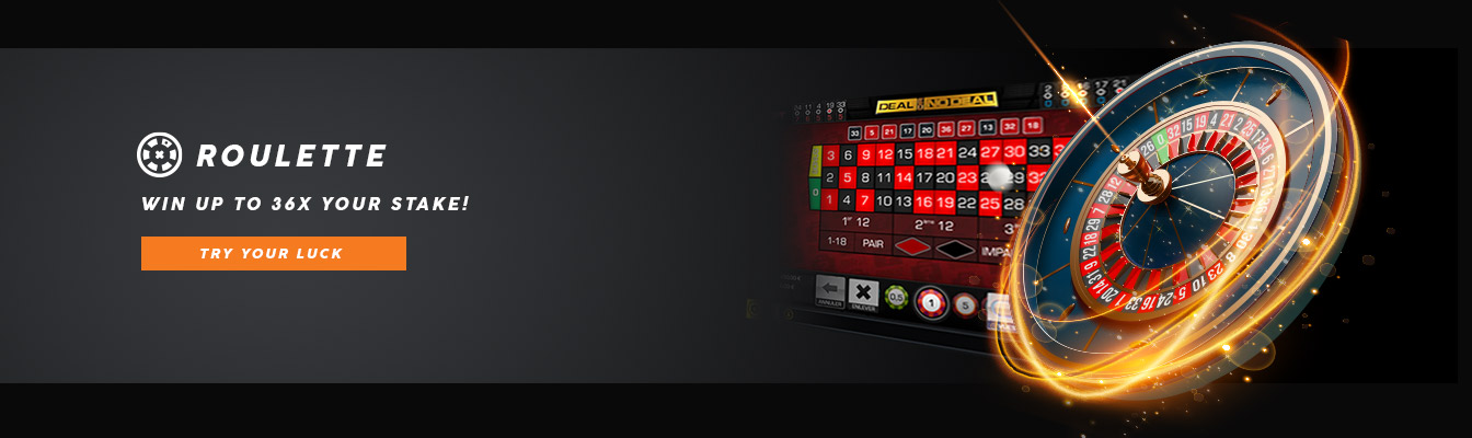 Win up to 36x your stake in roulette